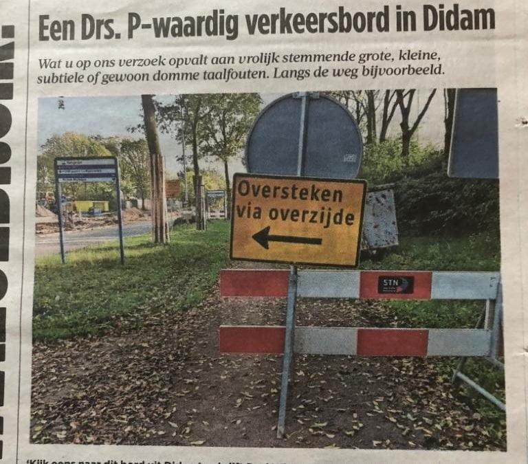 Een Drs. P-waardig verkeersbod in Didam